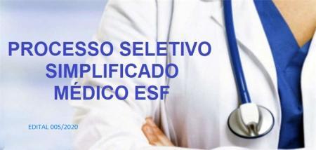 PROCESSO SELETIVO PARA O CARGO DE MÉDICO DA ESF